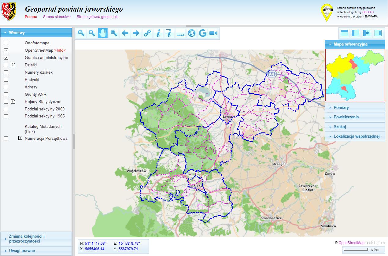 Geoportal powiatowy